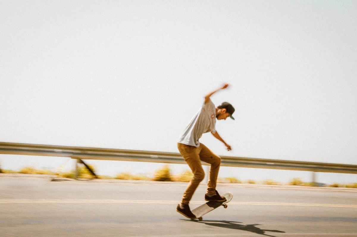 planche à roulettes, patinage, véhicule, sport, compétition, active, plage