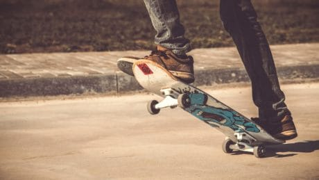 skateboard, contest, sport, jump, person, ground, outdoor