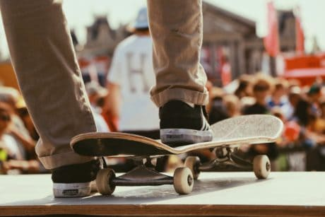skateboard, mann, folk, konkurranse, sport, person