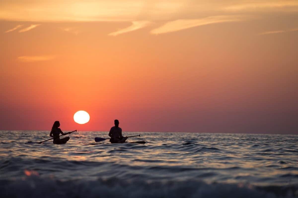 retroilluminazione, alba, spiaggia, alba, mare, acqua, crepuscolo, tramonto, oceano, vista sul mare