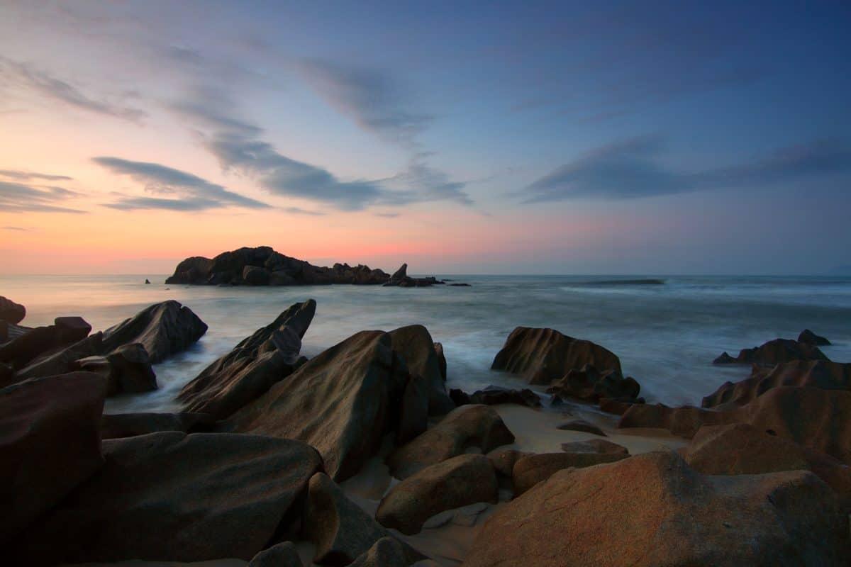 海, 黄昏, 海滨, 海滩, 黎明, 日落, 海洋, 水, 海岸, 海岛