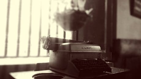objekt, detalj, gammal, laptop, maskin, antikt, verktyg, svartvitt, sepia