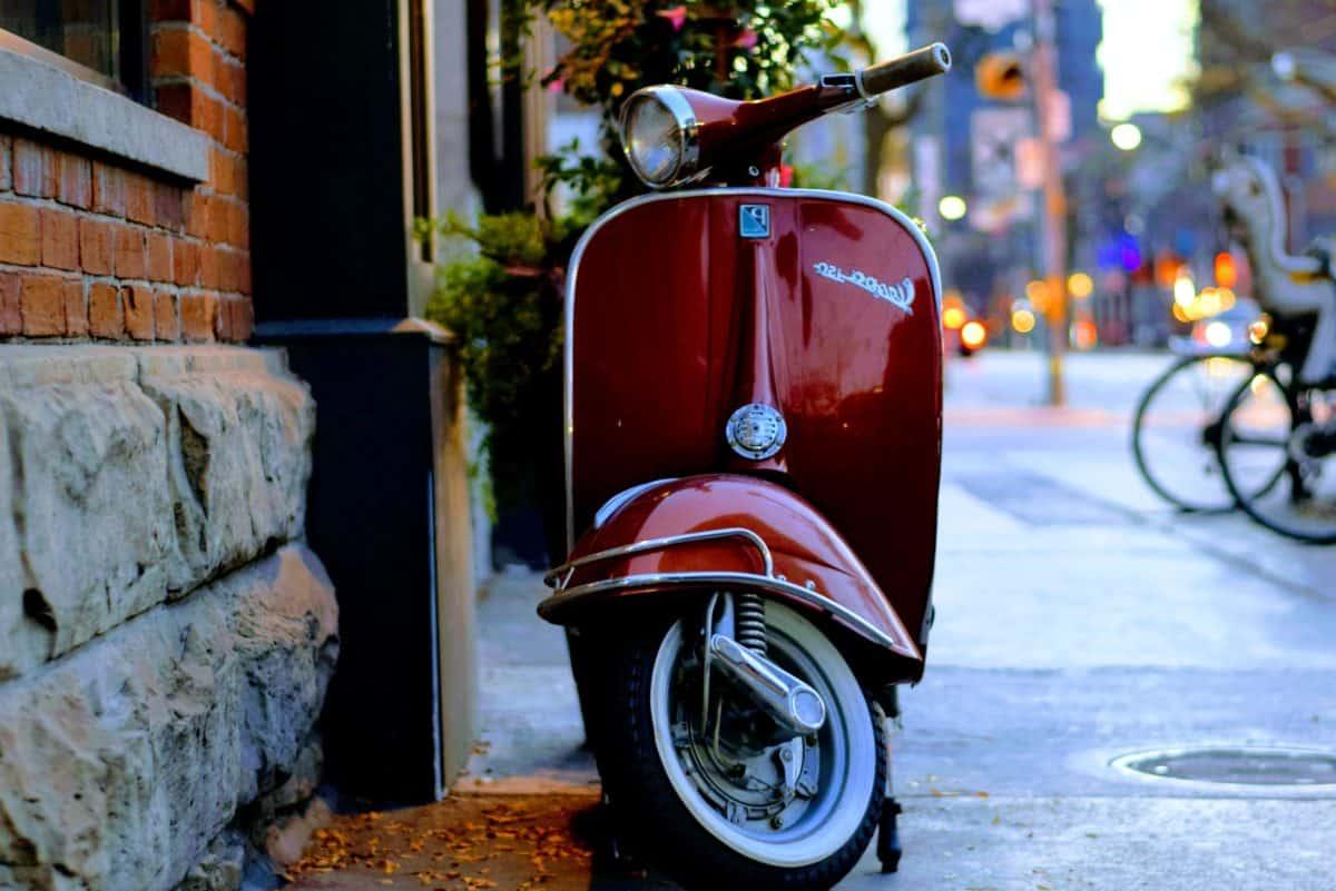 Italie, roue, ville, rue, véhicule, transport, moto, plein air
