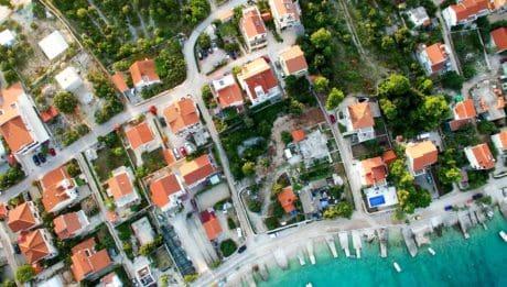 mestský, architektúra, mesto, ulicu, panorámu mesta, mesto