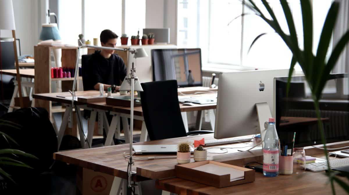 ventana, empleo, decoración interior, hombre, habitación, muebles, silla, escritorio, oficina, interior