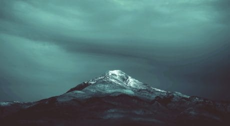 mountain peak, nature, ice, snow, water, fog, outdoor