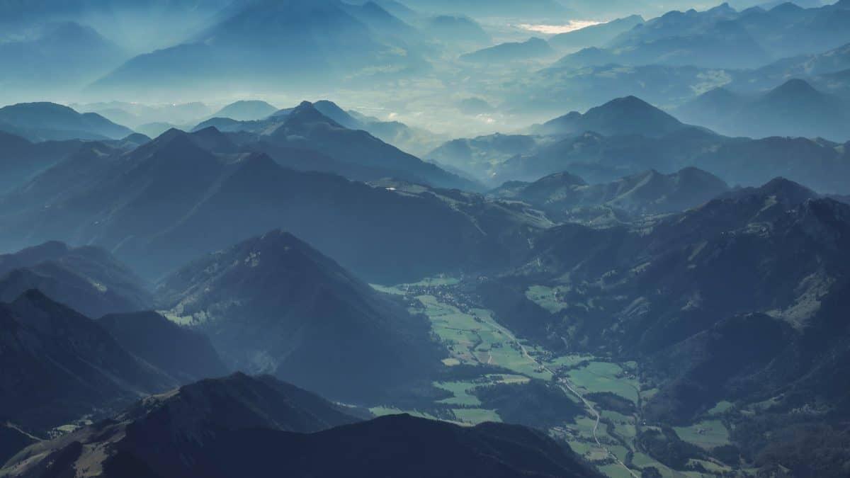 Nebel, Berg, Landschaft, Gletscher, Sky, outdoor, Tal