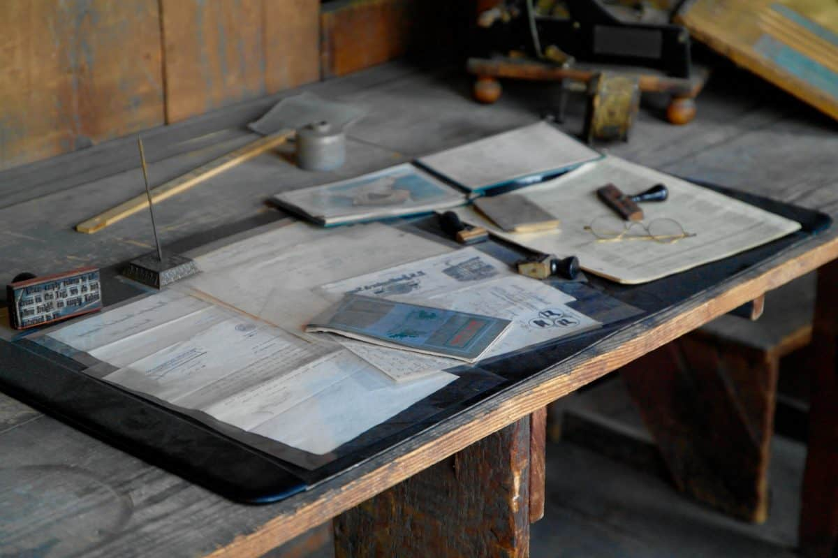 kerajinan, lokakarya, alat, Meja, kertas, kayu