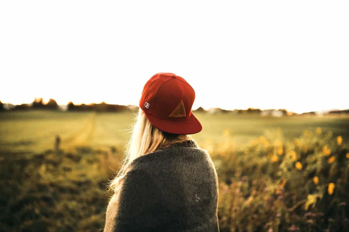 Sonnenuntergang, Hut, Feld, Wiesen, Natur, Himmel, im freien