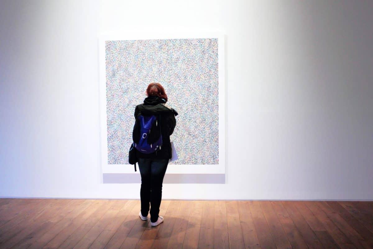 Museo, muro, persone, ritratto, tuta, arte, piano, Galleria