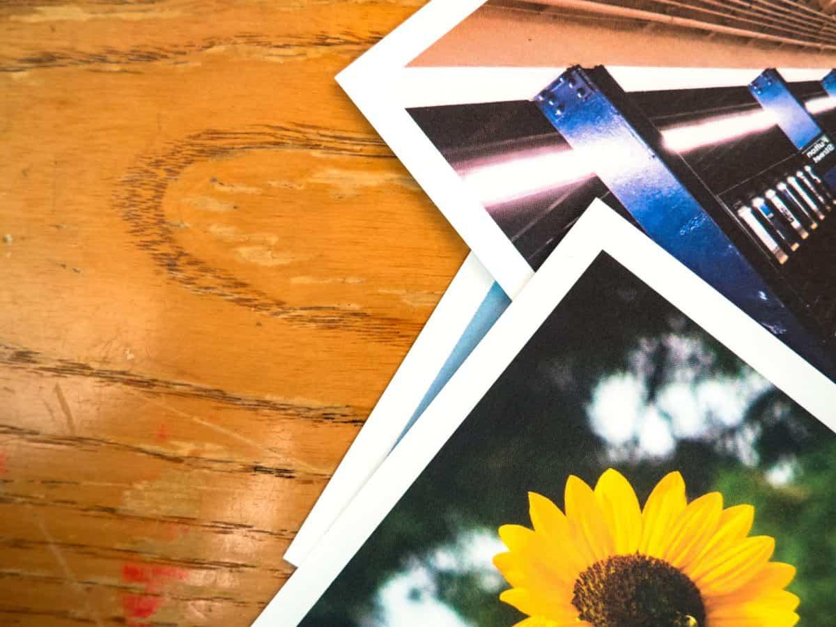 kép, fotó, színes, íróasztal, fa, papír