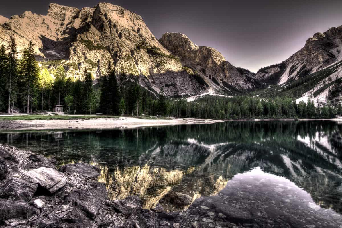 paisaje, naturaleza, Parque Nacional, montaña, agua, lago, reflexión, cielo