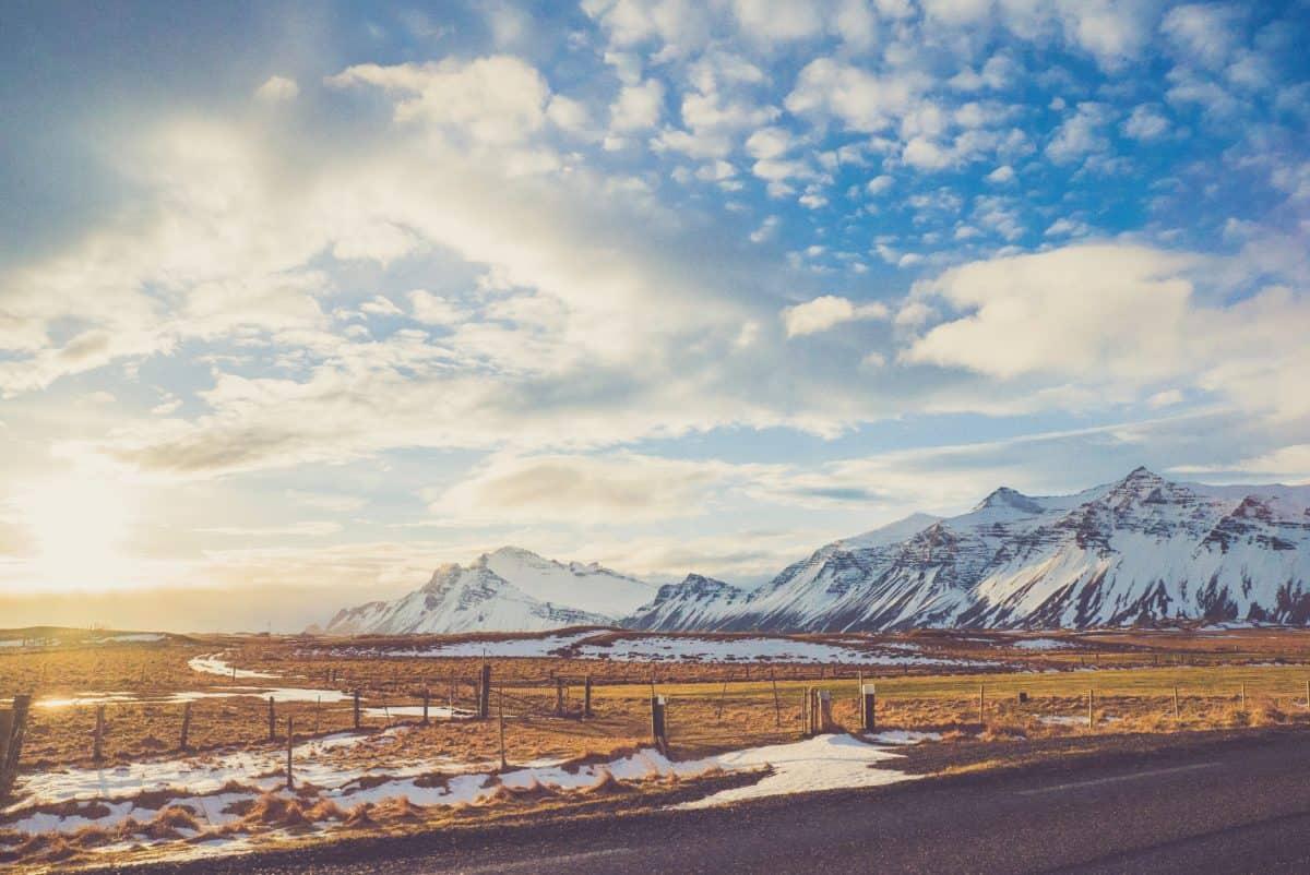 strada, neve, montagna, Parco nazionale, paesaggio, cielo blu, natura, outdoor