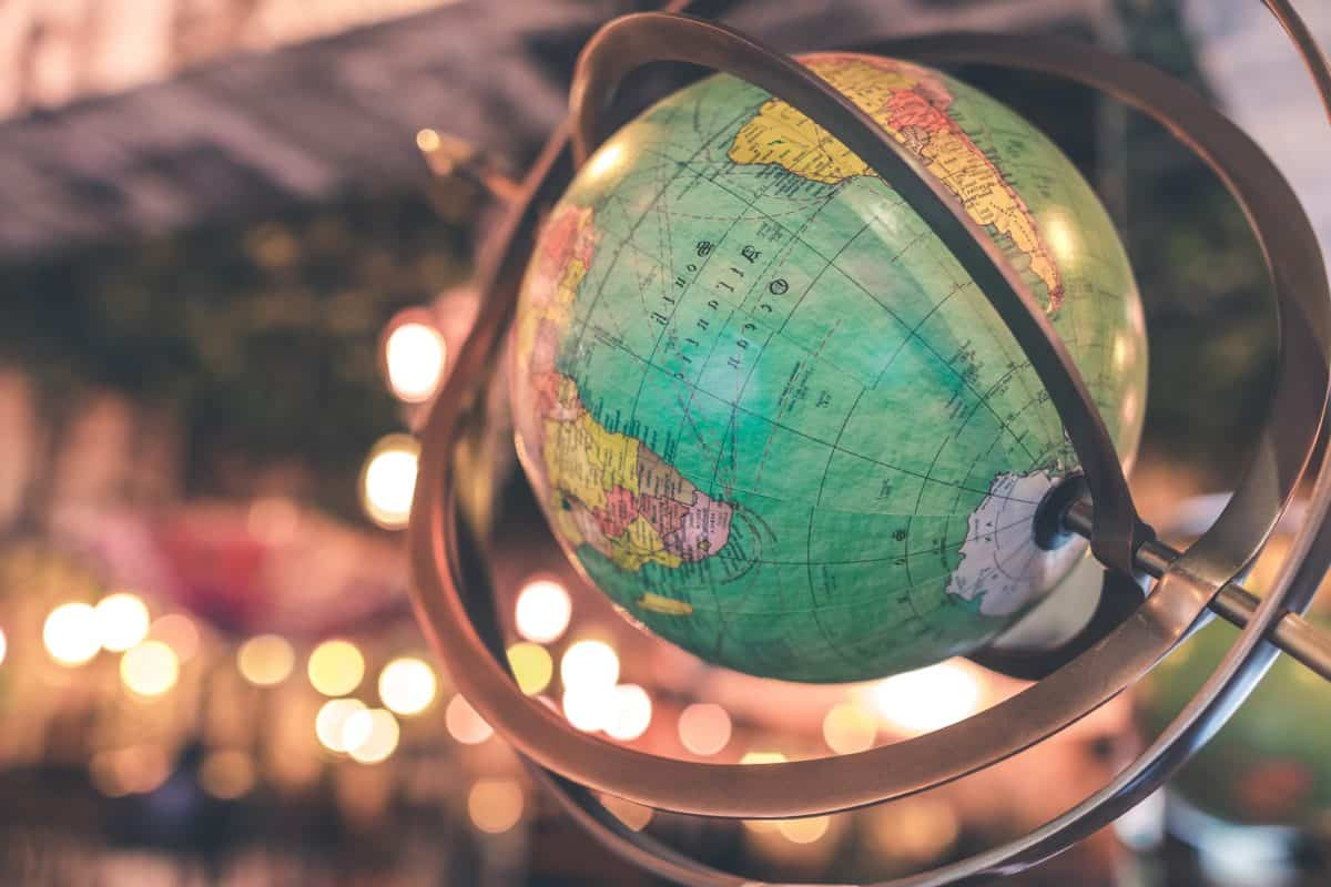 Geografía, orientación, educación, objeto, metal, arte, colorido, globo