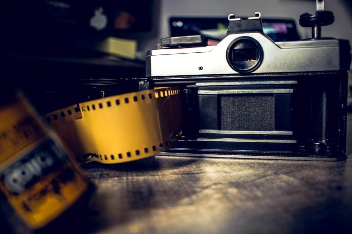 abertura, negativos, lente, película, analógico, analógico, fotografía
