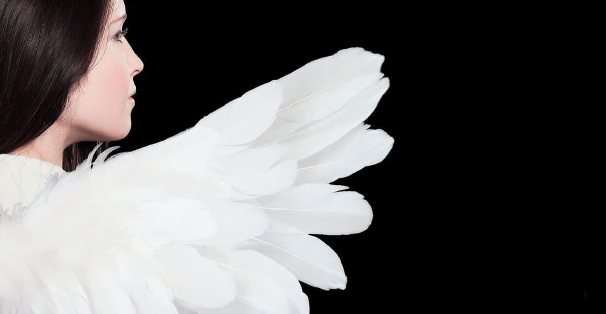 modelo de la foto, mujer, traje, alas, ángel blanco, actriz