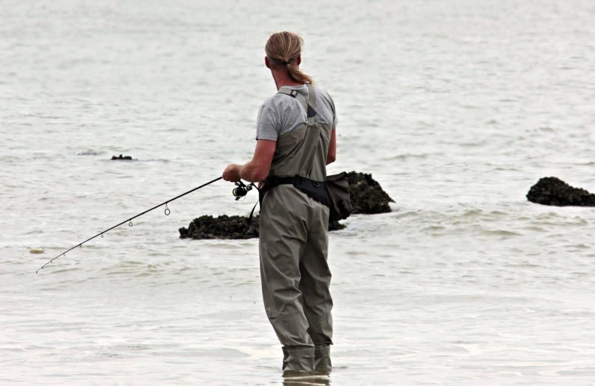плаж, вода, морето, Риболов, почивка, спорт, мъж, Открит