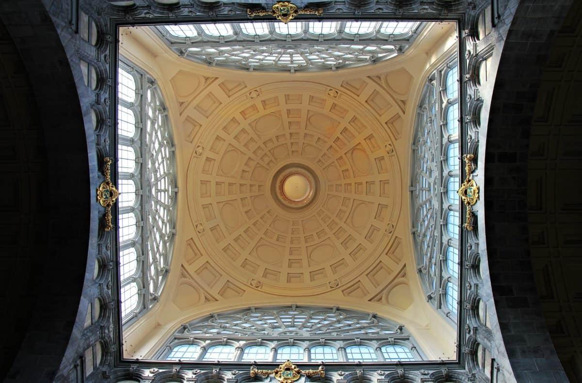 interior, ceiling, architecture, dome, arabesque, building, window
