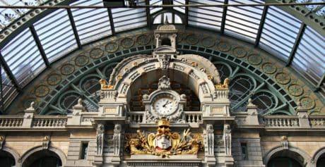 Arabesque, architecture, horloge, station, Dôme, bâtiment, art