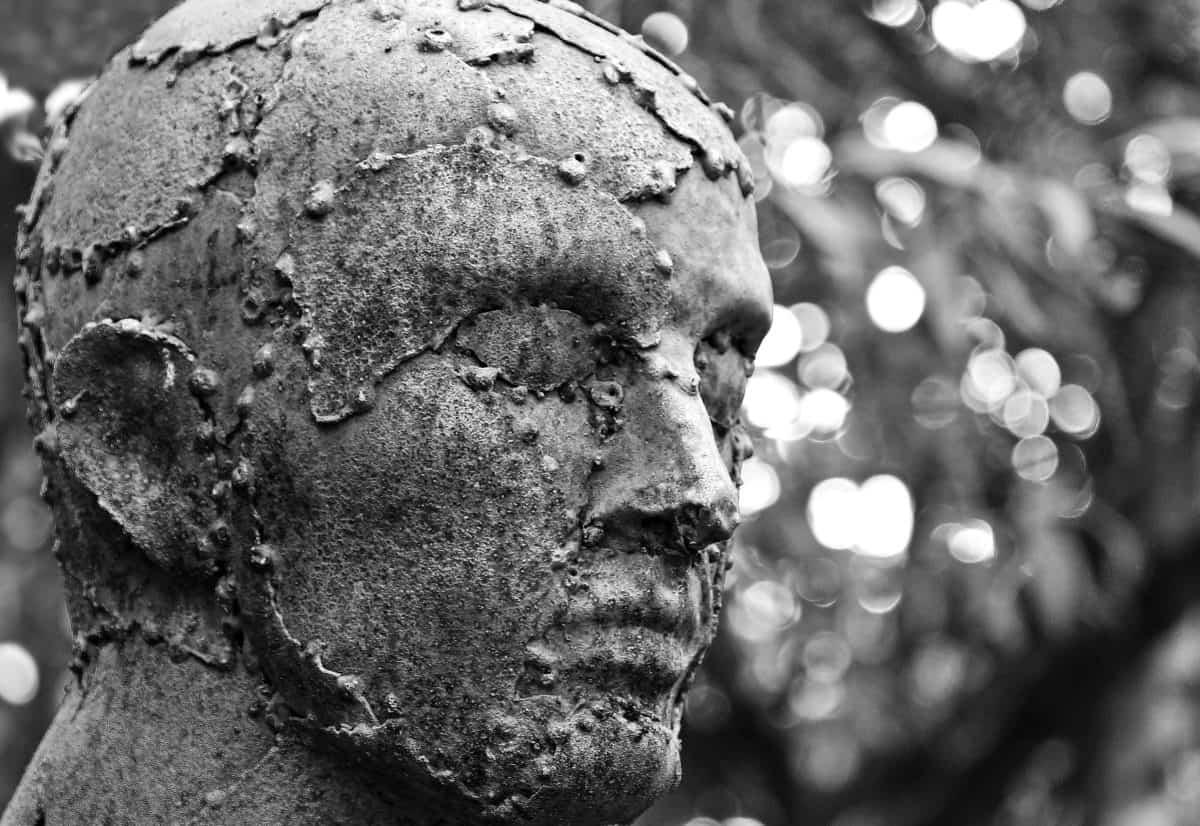 Bronze, Menschen, im Freien, Kunst, Monochrom, Skulptur, Kopf, Mann