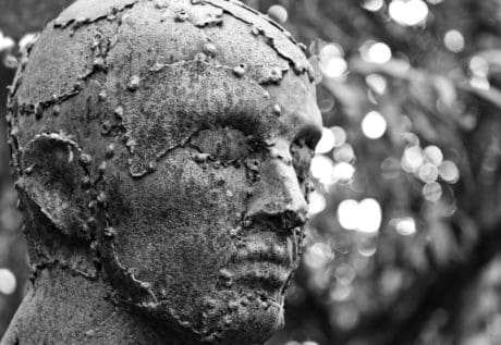 bronze, people, outdoor, art, monochrome, sculpture, head, man
