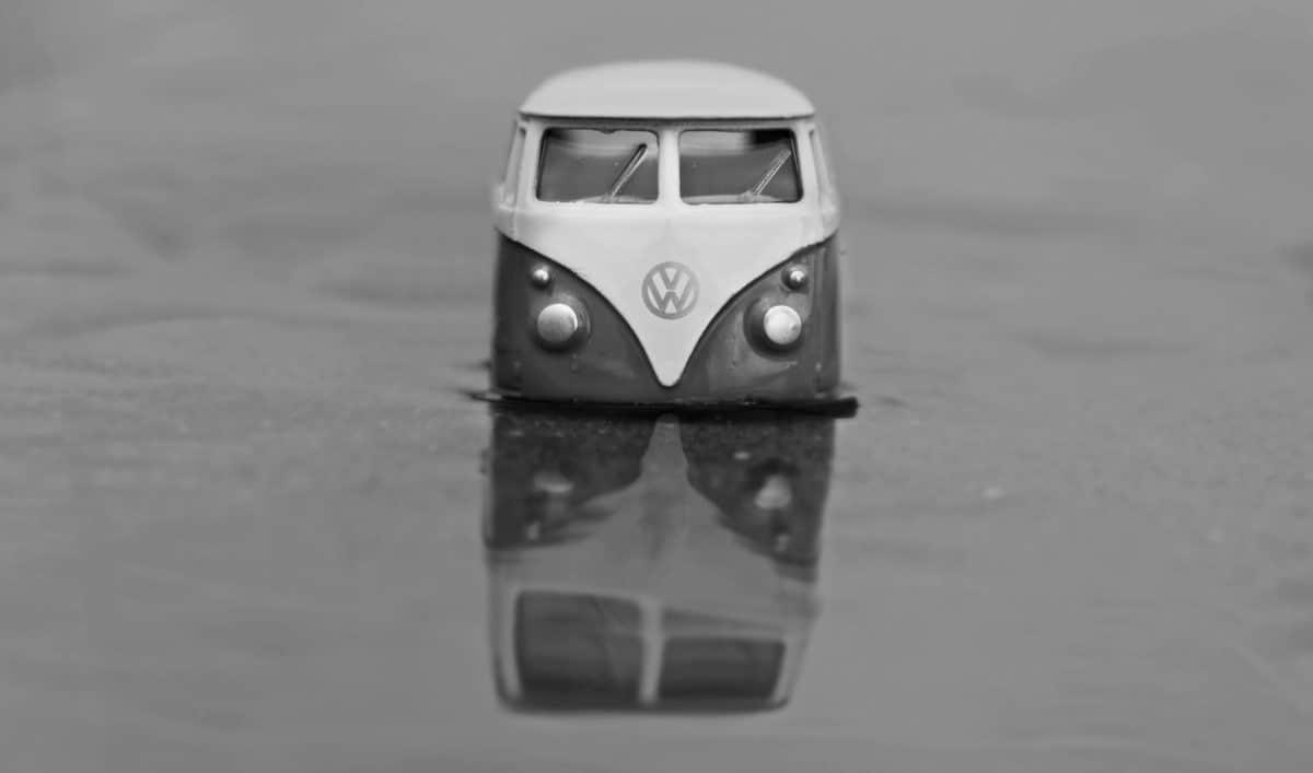 vozila, automobila, nebo, voda, crno-bijeli, igračka, model