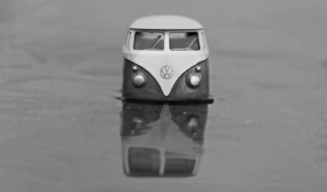 vehicle, car, sky, water, monochrome, toy, model