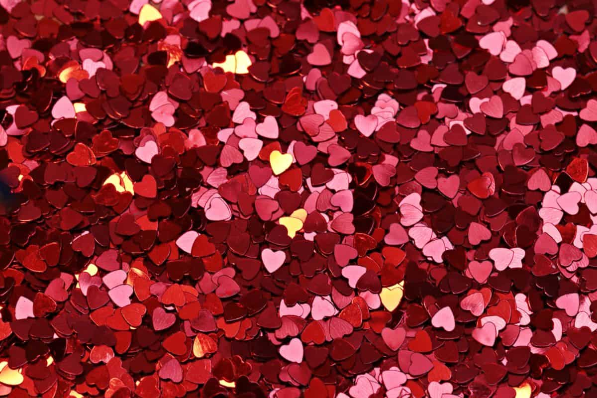 photomontage, red heart, love, romance, red, colorful, decoration