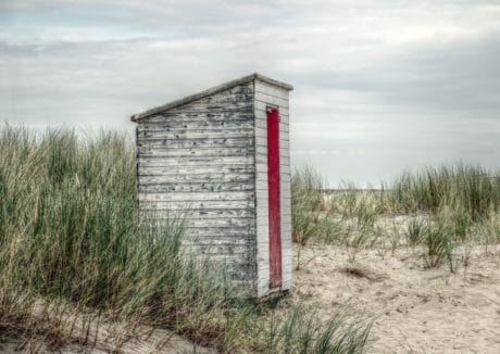 outdoor, wood, object, grass, beach, cabin, sand, daylight