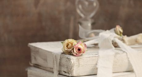still life, decoration, rose, object, flower, petal, bud, book