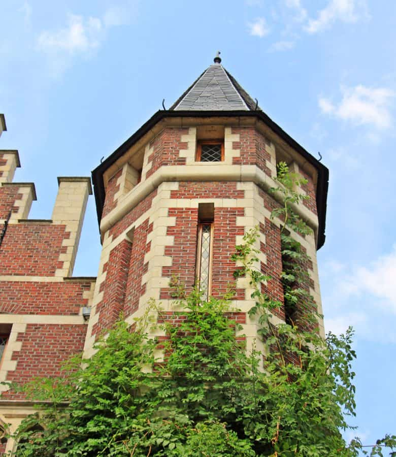 architecture, old, house, tower, brick, castle, sky, outdoor