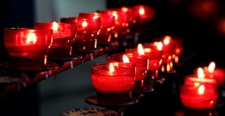 de cera, velas, vela, oscuro, rojo, luz