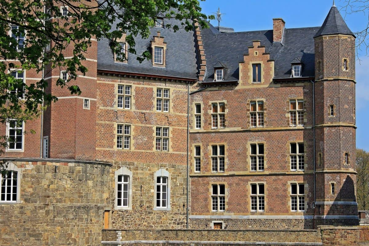 architecture, brick, tree, window, architecture, castle, palace, tower, old