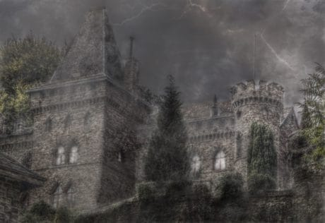 old, photomontage, architecture, castle, Gothic, fortification
