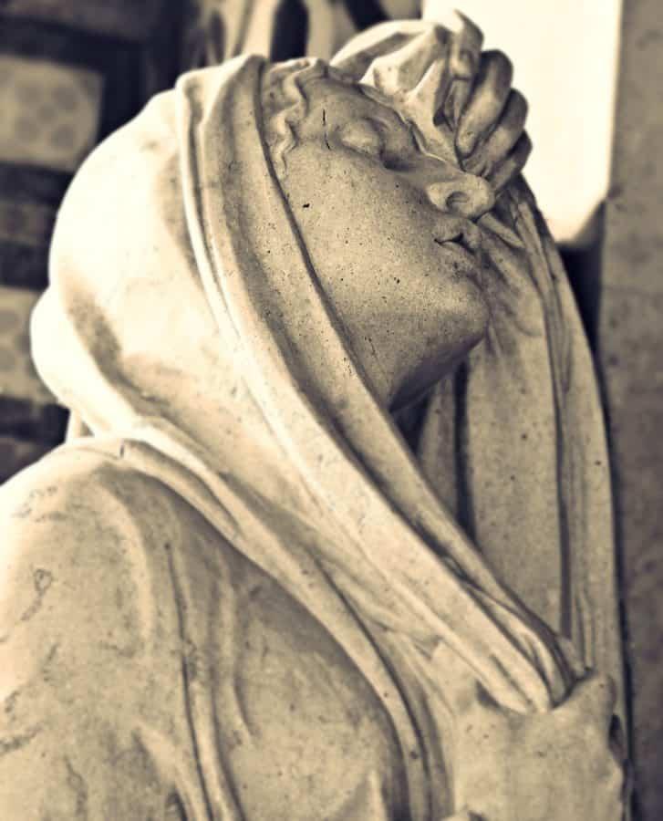 Statua, scultura, arte, religione, monocromatico, persone, donna