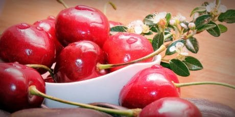 nourriture, fruits, cerise, bio, nutrition, alimentation