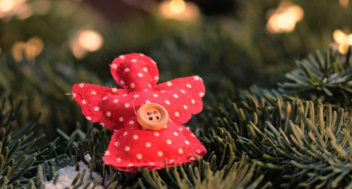 jul, knapp, lerret, dekorasjon, edelgran, ferie, vinter