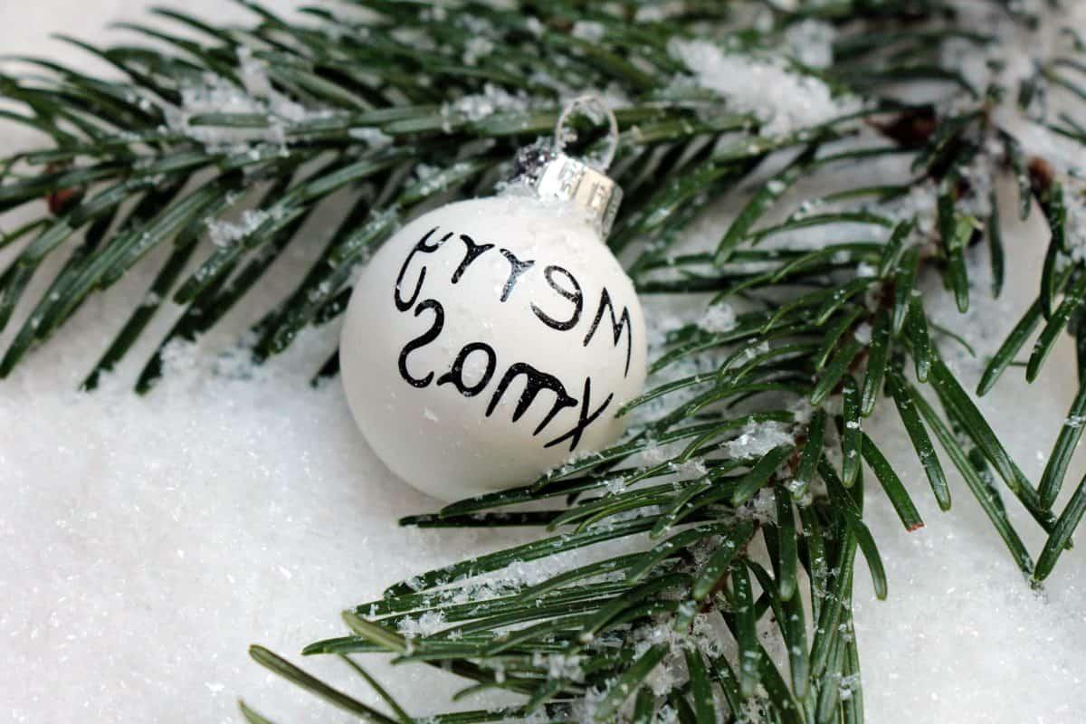 decoratie, fir tree, sneeuw, winter, vakantie, boom