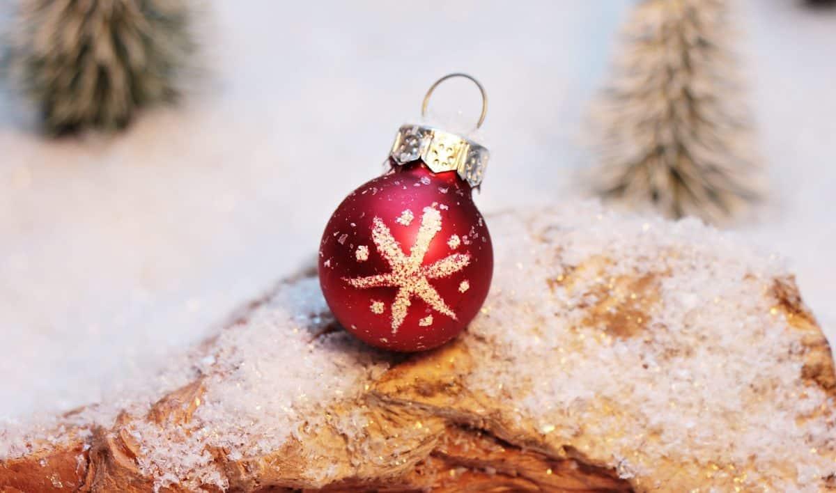 Χριστούγεννα, διακόσμηση, μπάλα, χιόνι, χειμώνα, νιφάδα χιονιού, εσωτερική