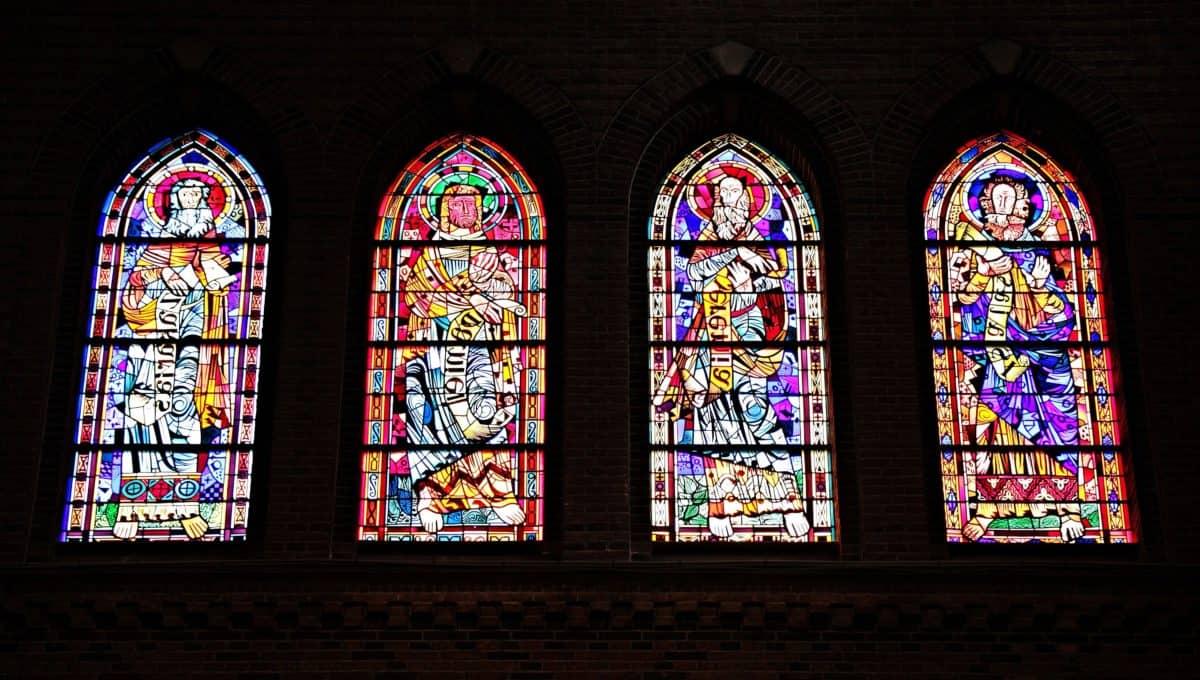 capilla, iglesia, Catedral, religión, color, sombra, arte, ventana