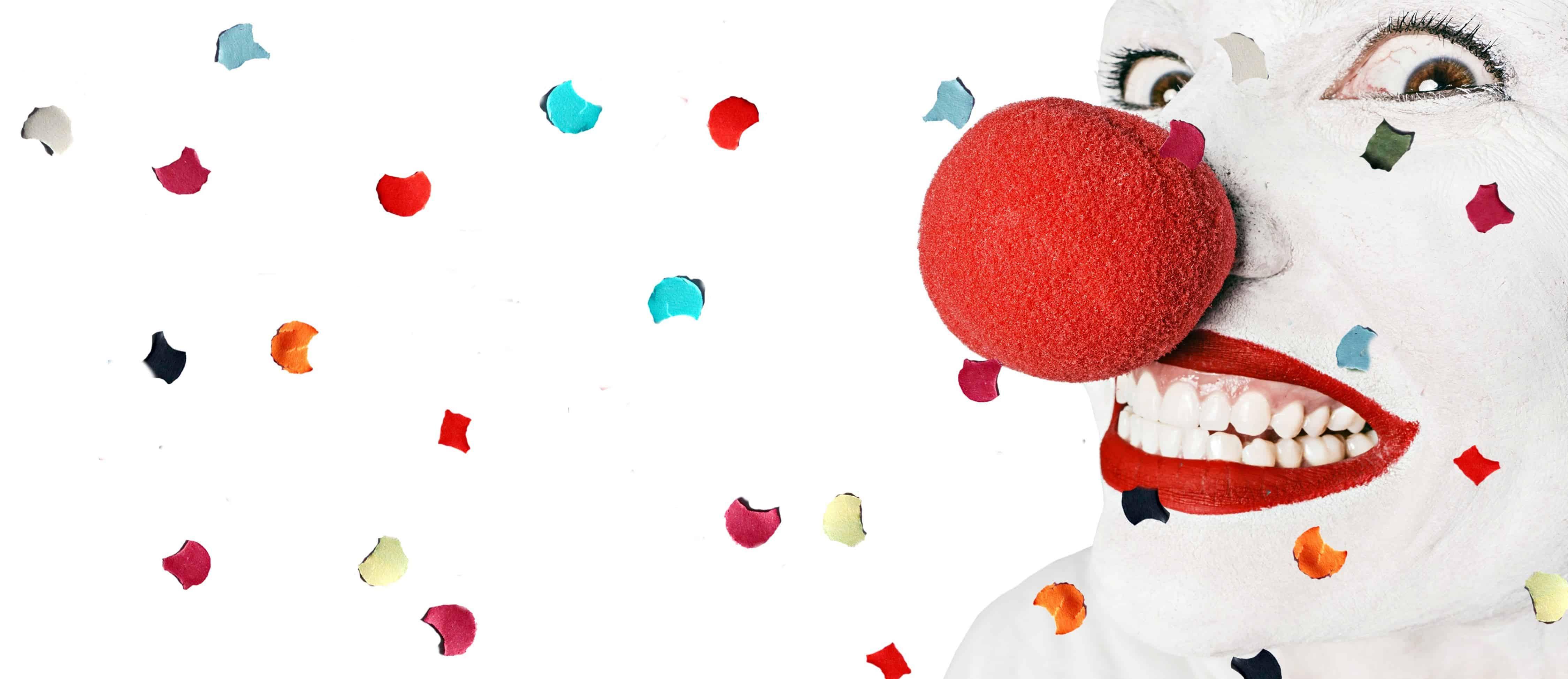 Kostenlose Bild Clown Nase Make Up Kostüm Bunte Augen Zähne