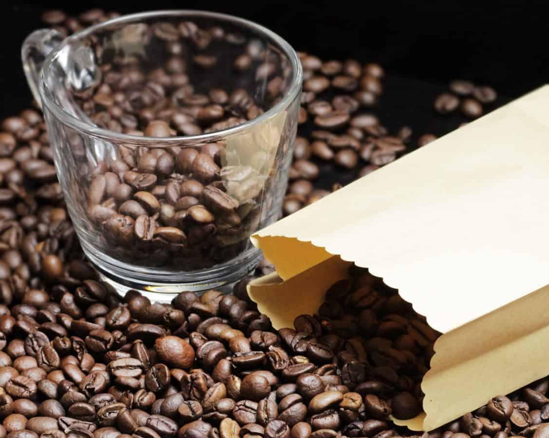 piće, espresso, zrna kave, kofein, tamno, kup