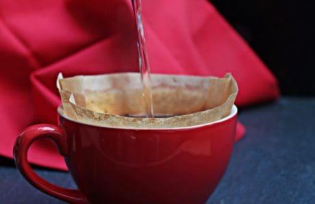 taza de café, agua, caliente, filtro, bebida, líquido
