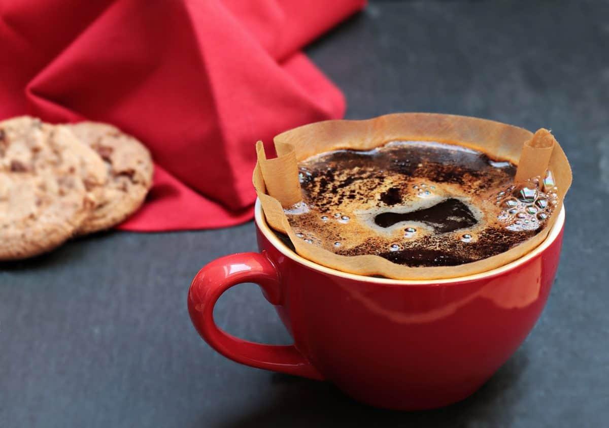 чаша за кафе, питие, бисквитка, филтър, купа, керамика, черен, течност,