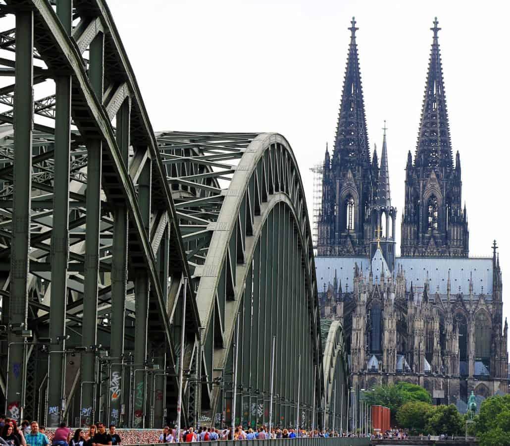 arquitectura, puente, ciudad, Catedral, estructura, ciudad, calle