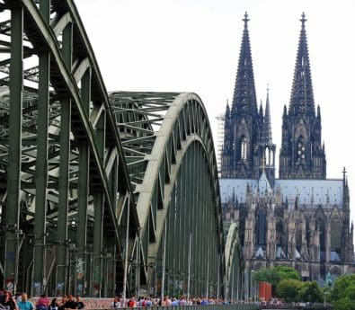 architecture, bridge, city, cathedral, structure, town, street