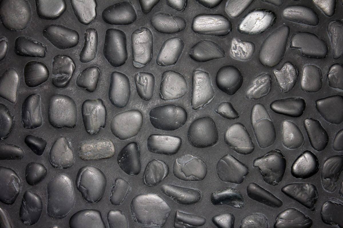 Черен камък, монохромен, модел, повърхността, текстура, стена, строителството, сив