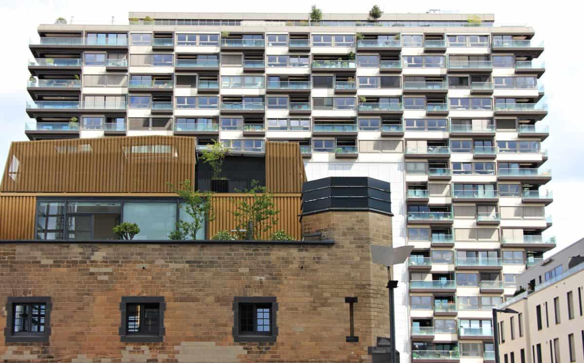 hus, moderne, leilighet, arkitektur, lager, byen, utendørs
