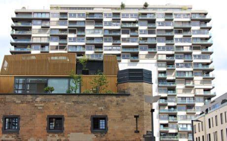 casa moderna, apartment, arquitectura, almacén, ciudad, al aire libre