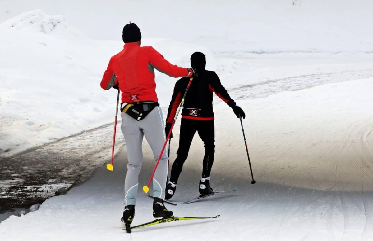 invierno, nieve, hielo, frío, montaña, deporte, esquiador, al aire libre